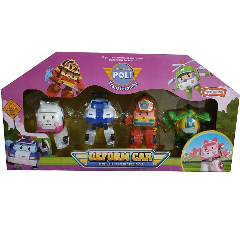 mainan robot - Robocar Poli Deform Car 378C