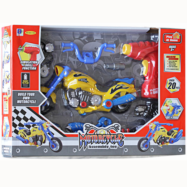 Motorcycle Assembly Toy 661-186