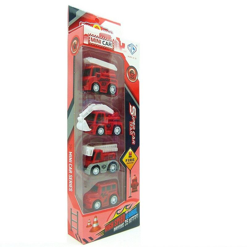 City Rescue Fire Engine isi 4 pcs (876E-13AB)