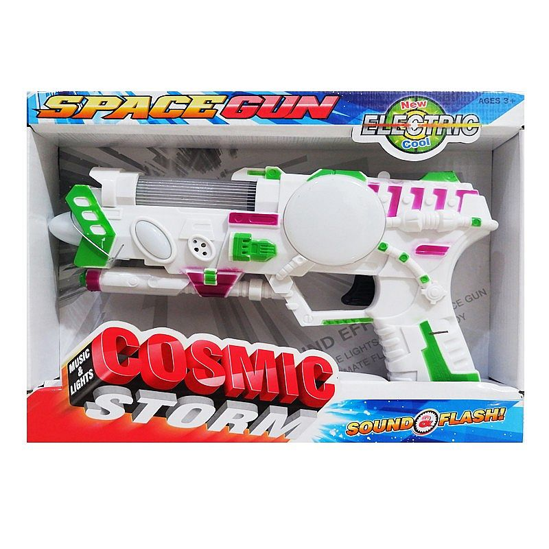 mainan pistol SPACE GUN LIGHT AND SOUNG 369E3 - PUTIH