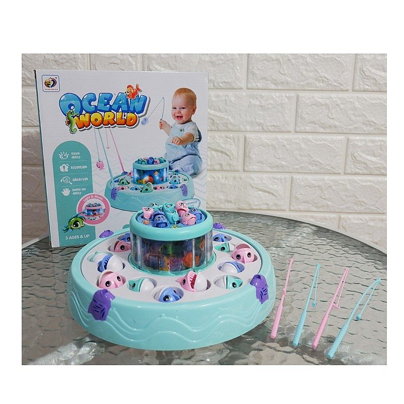 mainan pancingan ikan - OCEAN WORLD FISHING GAME TT6001A