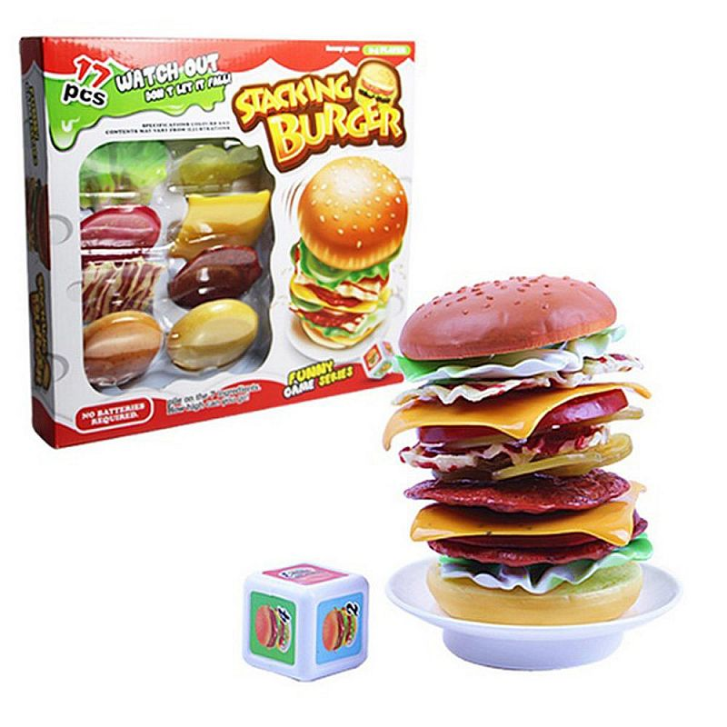 mainan tumpuk - Stacking Burger